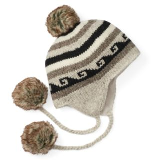 Women's SIJJL Wool Pom-Pom Trapper Hat