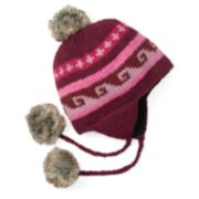 Women's SIJJL Wool Pom-Pom Trapper Hat