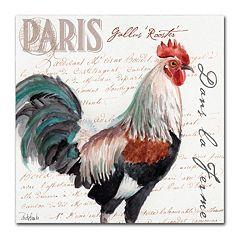Trademark Fine Art Dans la Ferme Rooster III Canvas Wall Art