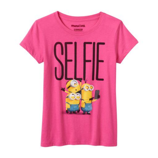 "Girls 7-16 Minions ""Selfie"" Graphic Tee"