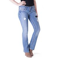 Juniors' Series 31 Ripped Trumpet Jeans