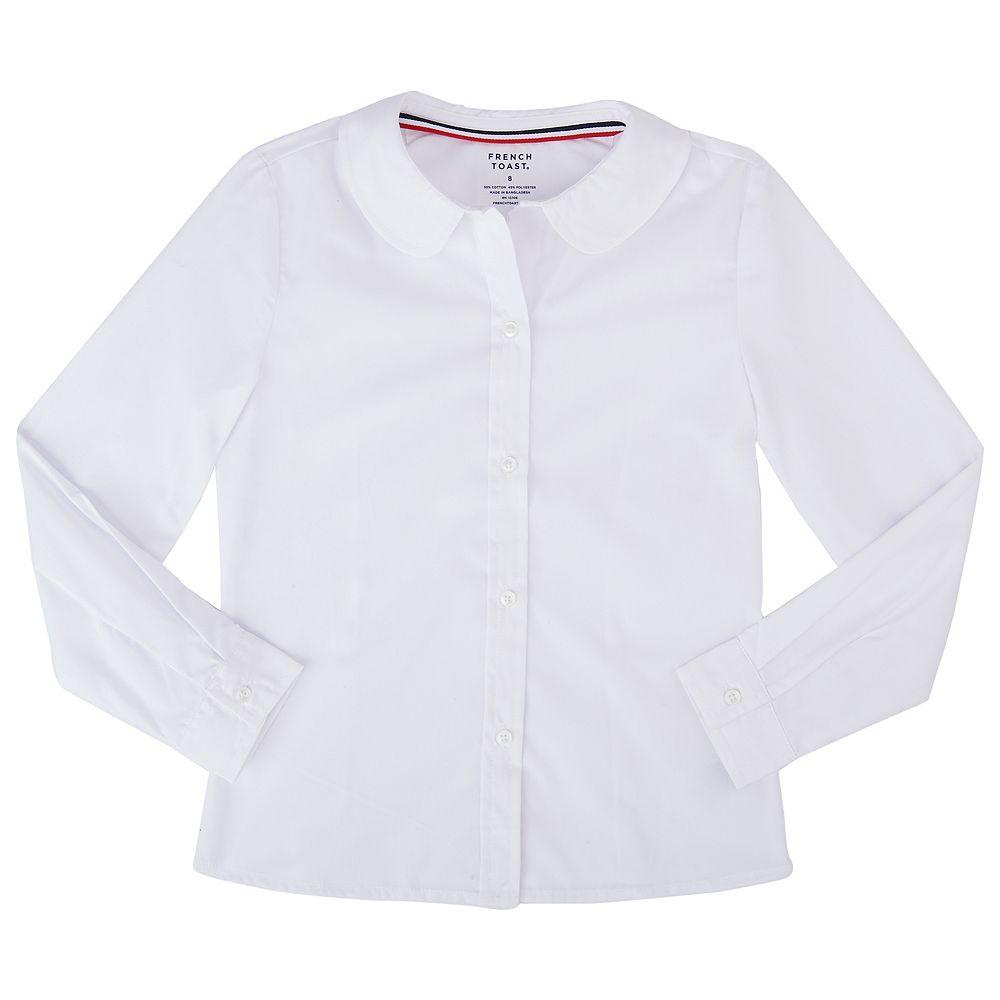 Girls 4 20 Plus Size French Toast School Uniform Peter Pan Collar