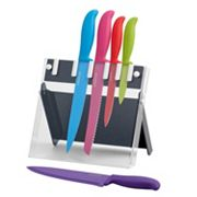 Farberware 6 pc Multi-Color Knife Block Set