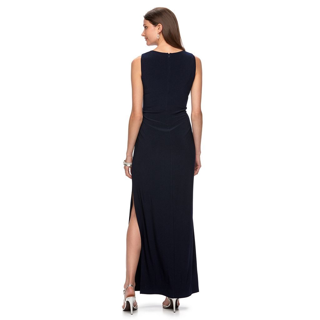 Women's Chaps Beaded Sheath Evening Gown