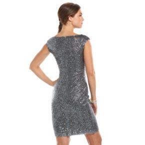 Women's Chaps Sequin Pleated Sheath Dress