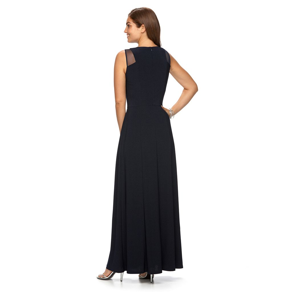 Women's Chaps Crisscross Pleated Evening Gown