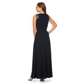 Women's Chaps Crisscross Pleated Evening Gown