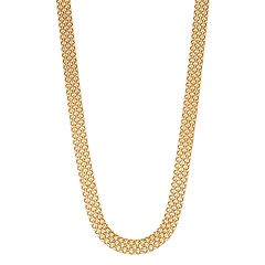 14k Gold Bismark Chain Necklace