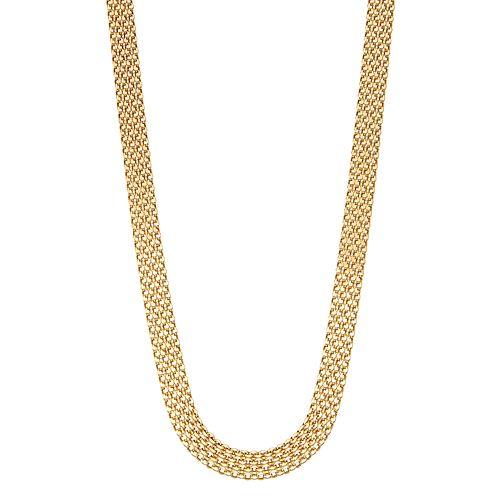 14k Gold Bismark Chain Necklace