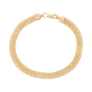 14k Gold Bismark Chain Bracelet