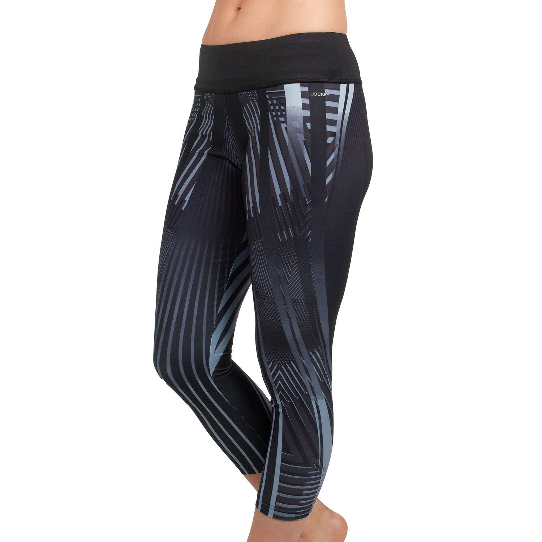 Womens Jockey Sport Deco Capri Workout Leggings
