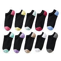 Women's SONOMA Goods for Life™ 10 pkColorblock No-Show Socks