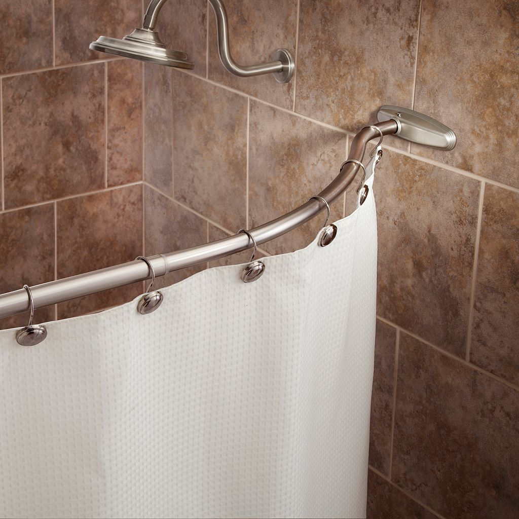 Kenney No-Tools Curved Shower Curtain Rod