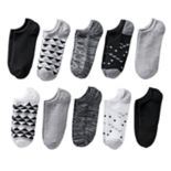Women's SONOMA Goods for Life™ 10-pk. Geometric No-Show Socks