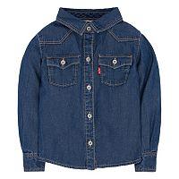 Baby Girl Levi's Western Button-Down Denim Shirt