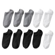 Women's SONOMA Goods for Life? 10-pk. Solid No-Show Socks