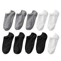 Women's SONOMA Goods for Life™ 10 pkSolid No-Show Socks