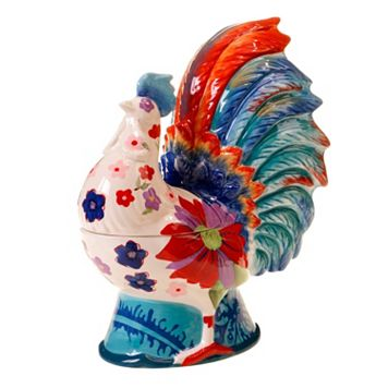 Tracy Porter Scotch Moss 3D Rooster Cookie Jar