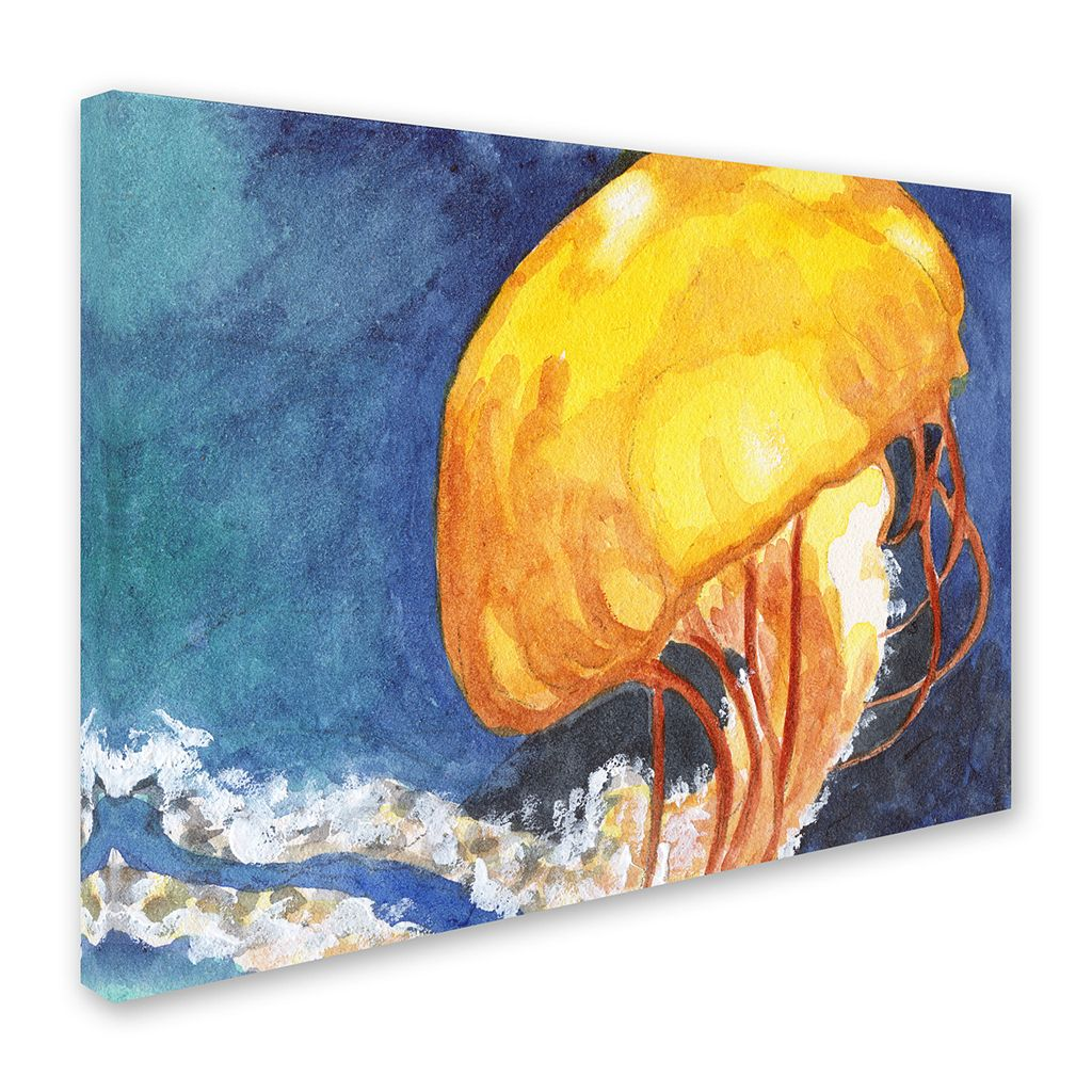 Trademark Fine Art Jelly Fish II Canvas Wall Art