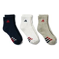 Boys adidas 3-Pack Quarter Socks