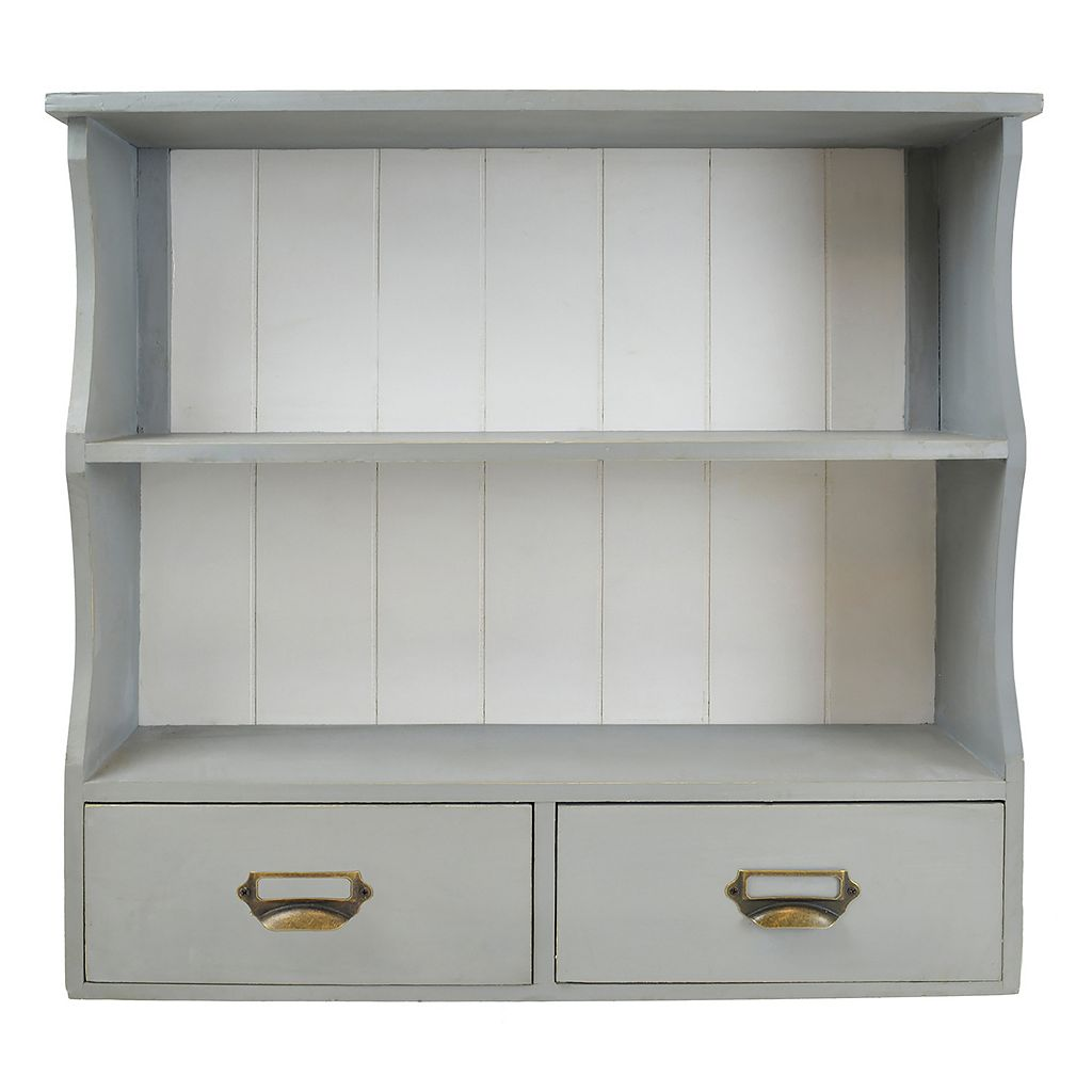 Sheffield Home 2-Shelf Wall Cabinet