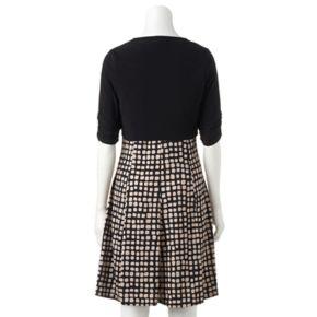 Women's Perceptions Geometric Dress & Shrug Set