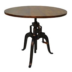 Carolina Forge Bently Crank Dining Table