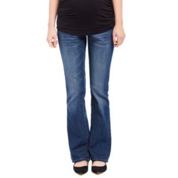 Maternity Oh Baby by Motherhood™ Secret Fit Belly™ Faded Bootcut Jeans