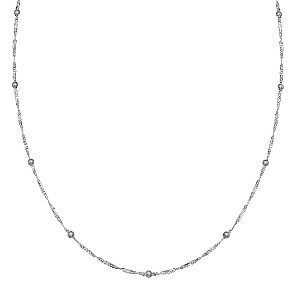 PRIMROSE Sterling Silver Bead Station Chain Necklace - 18 in.