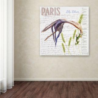 Trademark Fine Art Paris Botanique Lily Canvas Wall Art