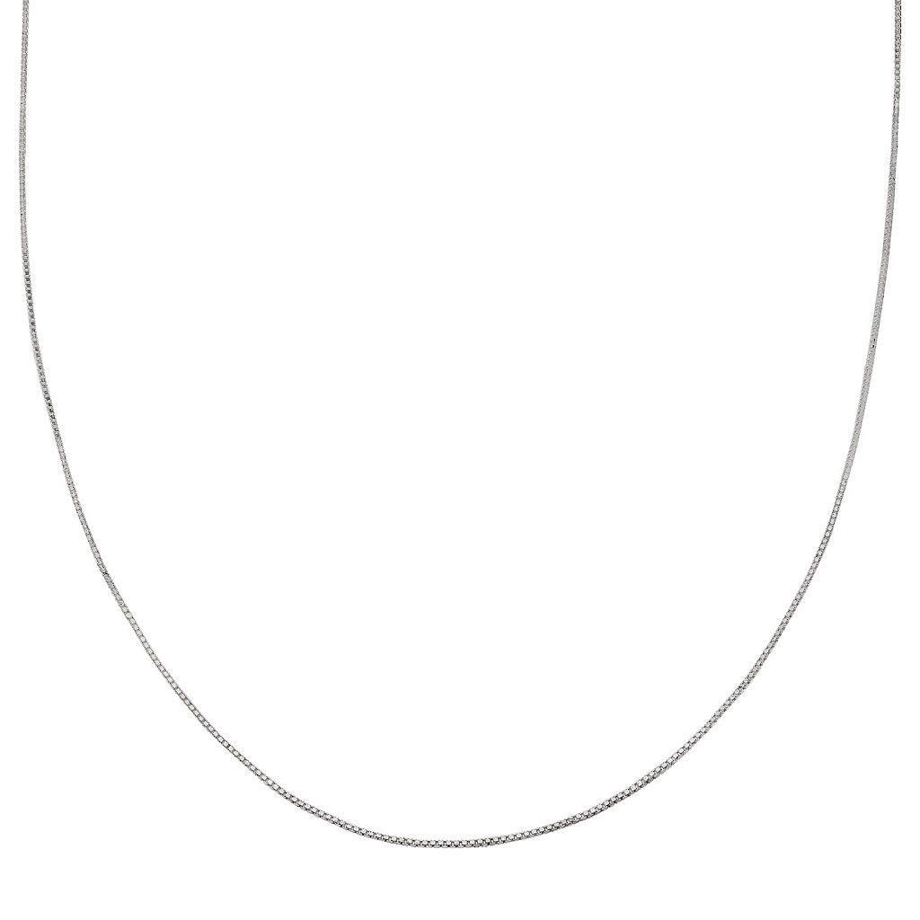 PRIMROSE Sterling Silver Box Chain Necklace - 24 in.