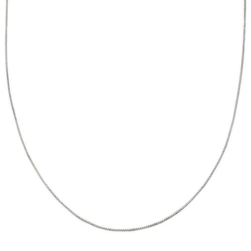 PRIMROSE Sterling Silver Box Chain Necklace - 24 in.