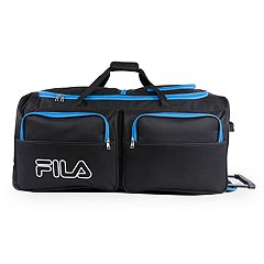 81709a8299e2 FILA® 30-Inch Wheeled Duffel Bag. Black Blue Gray Neon