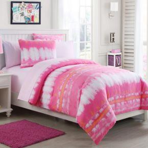 VCNY Pink Lemonade Tie-Dye Bedding Set