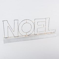 LED 'Noel' LED Sign Table Decor