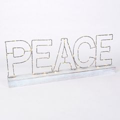 LED 'Peace' LED Sign Table Decor