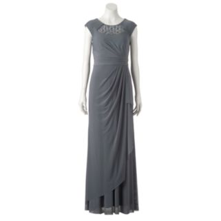 Women's 1 by 8 Embellished Gathered Evening Gown