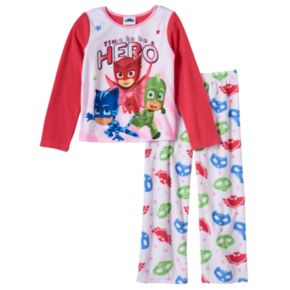 "Girls 4-12 PJ Masks Owlette,  Gekko & Catboy ""Time To Be A Hero"" Pajama Set"