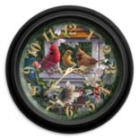 Reflective Art Springtime Melody Wall Clock