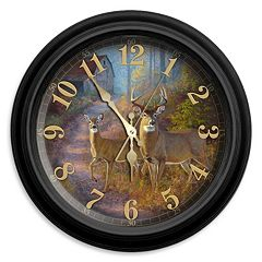 Reflective Art Sunday Stroll Wall Clock