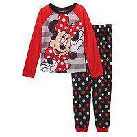 Disney's Minnie Mouse Girls 4-10 Striped & Dot Pajama Set