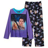 Girls 6-14 Star Wars: Episode VII The Force Awakens Rey Pajama Set