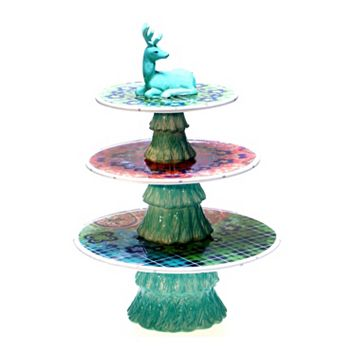 Tracy Porter Folklore Holiday 3-Tier Centerpiece Platter