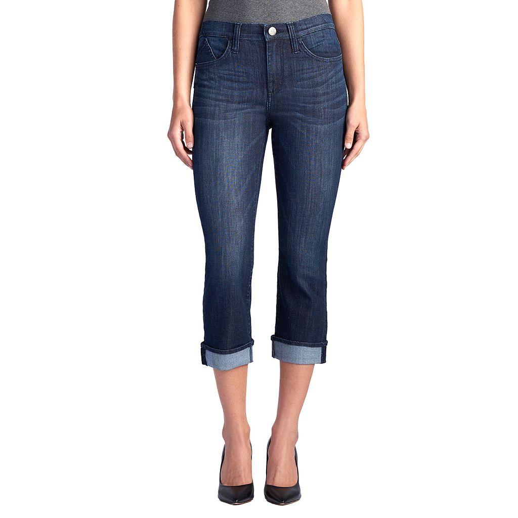 Women's Rock & Republic® Kendall Studded Capri Jeans