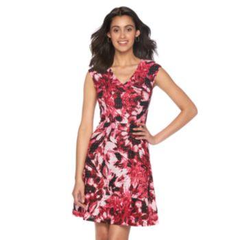 Women's Suite 7 Mesh Eyelet Fit & Flare Dress