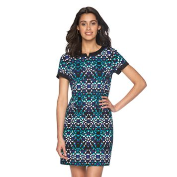 Women's Suite 7 Textured Kaleidoscope Shift Dress