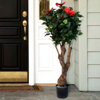 "Navarro 48"" Flowered Hibiscus Artificial Tree"