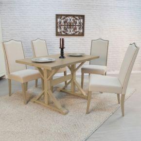 """Carolina Cottage 30"""" x 48"""" Trestle Dining Table"""