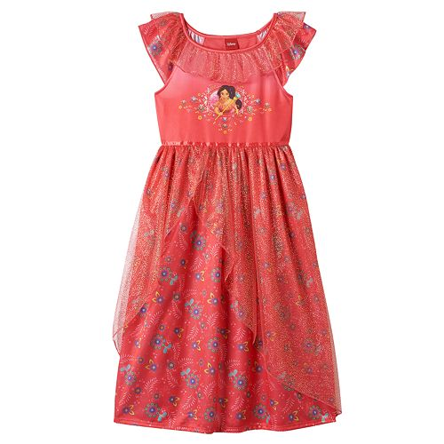 76847be1a622 Disney s Elena of Avalor Girls 4-10 Glitter Tulle Nightgown