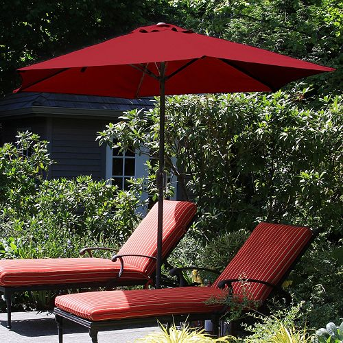 Navarro 9-ft. Outdoor Auto Crank Umbrella